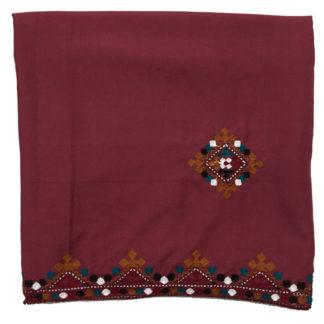 maroon shawl