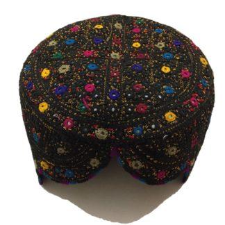 black balochi topi