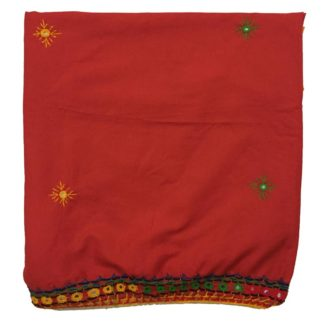 red mirror shawl