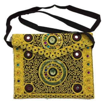 yellow traditional bag