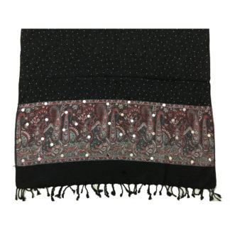 embroidered winter shawl