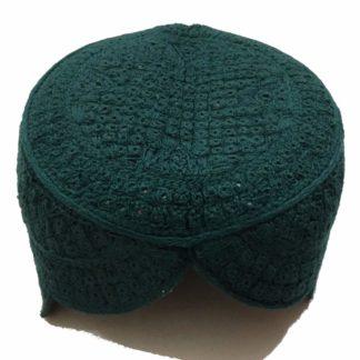 green handmade topi