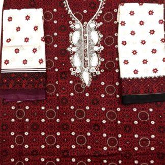 ajrak suit for ladies
