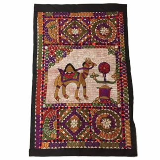 camel embroidery tapestry