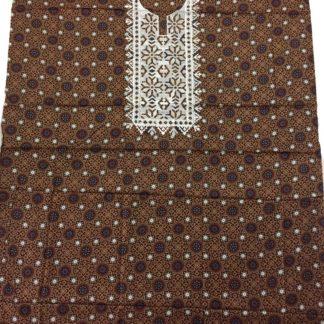 embroidered ajrak shirt