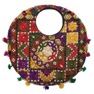 round ladies handbag