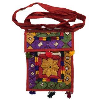 embroidered shoulder purse