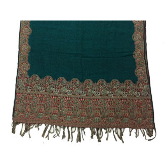 embroidereed winter shawl