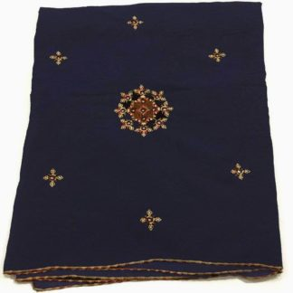 embroidery blue chadar