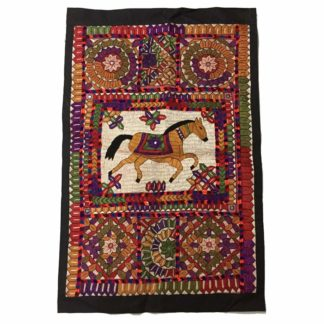 horse embroidery painting