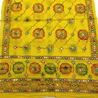yellow fancy dupatta