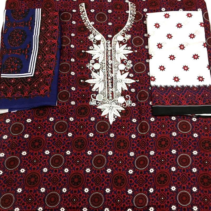 3ddee03243 Hand Embroidery Sindhi Ajrak Dress for Women. Buy Online!