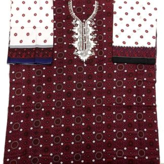 ajrak machine embroidered dress