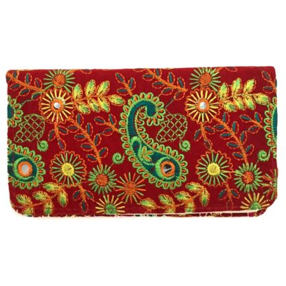 women embroidered wallet