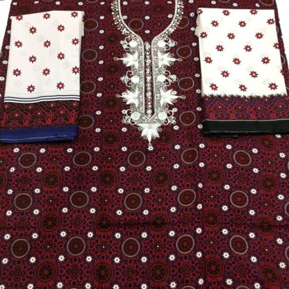 ajrak design suit