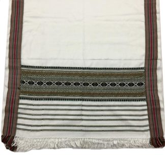 mens white shawl