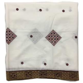 white embroidered shawl
