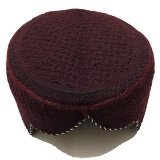 maroon sindhi cap