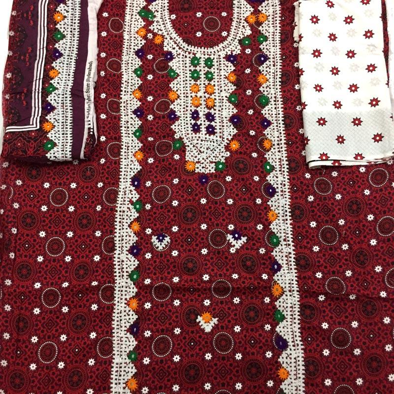 d6866b9064 Hand Embroidery Mirror Work Ajrak Dress for Women. Buy Online!