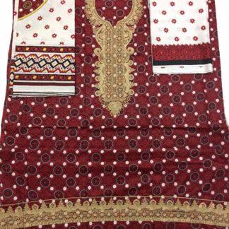 cotton ajrak dress