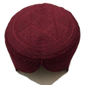maroon sindhi topi