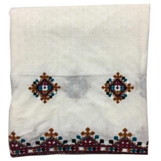 white sindhi chadar