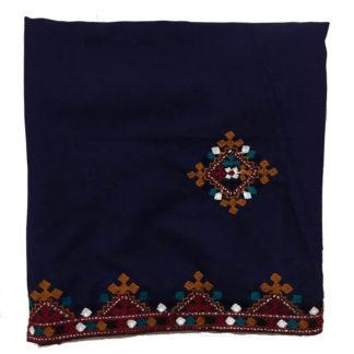 blue sindhi shawl