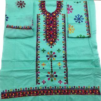 blue balochi dress