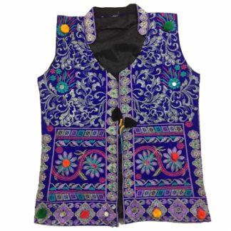 multicolor sindhi waiscoat