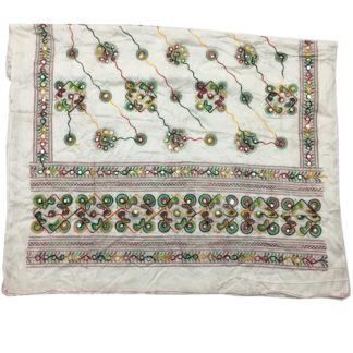 white fancy dupatta