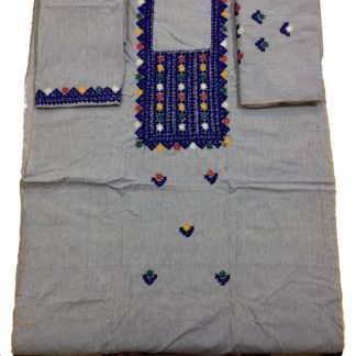 khaddi embroidered dress
