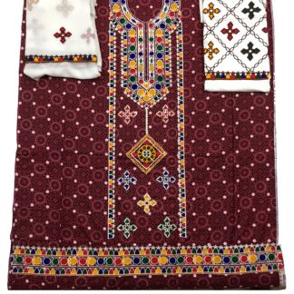 sindhi embroidered dress