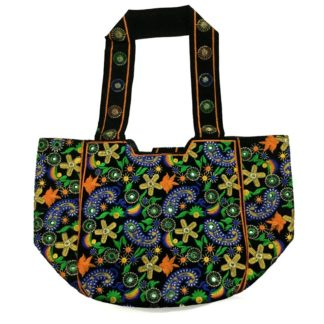 embroidered mirror work bag