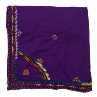 purple handmade chadar