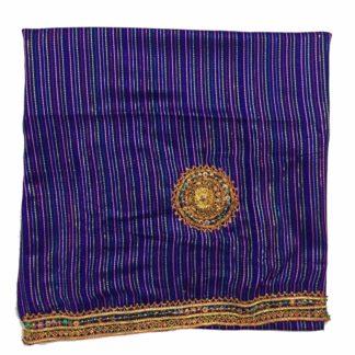 blue embroidery shalwar