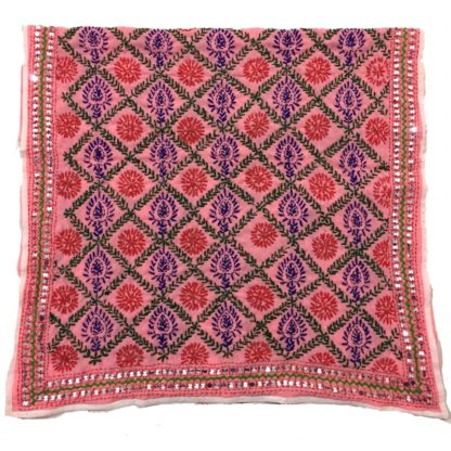 colorful phulkari shawl