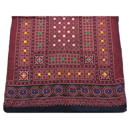 mirror work shawl