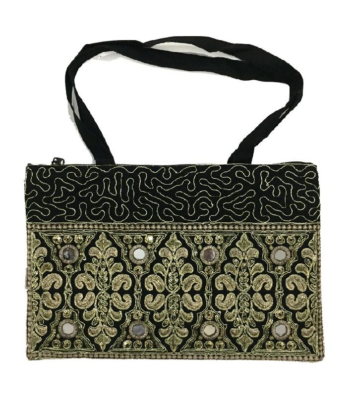 801ffcc2bb Multi Color Embroidered Mirror Work Hand Bag For Women Girls