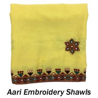 Aari Embroidery Shawls