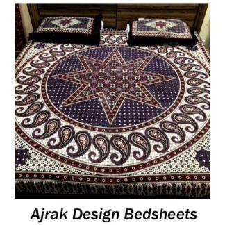 Ajrak Design Bed Sheets