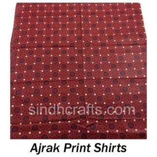 Ajrak Print Shirts