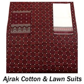 Ajrak Cotton and Lawn Suits