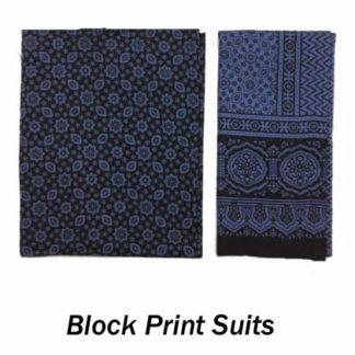 Block Print Suits