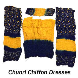 Chunri Chiffon dresses