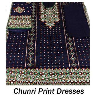 Chunri print dresses