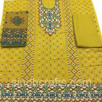 chunri print lawn dress