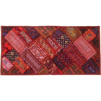 red wall art embroidery sindh