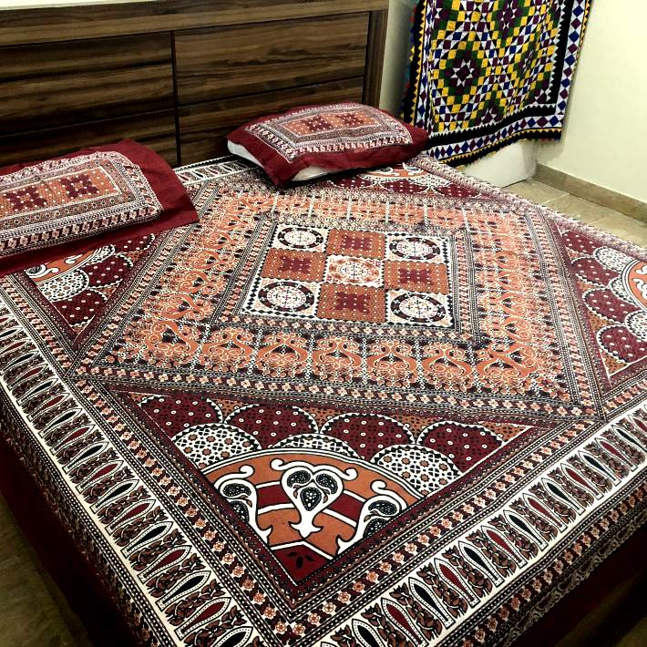 Phulkari Bed Sheets