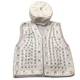 sindhi waistcoat and white topi for kids