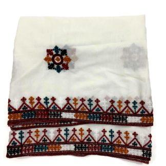 white sindhi shawl
